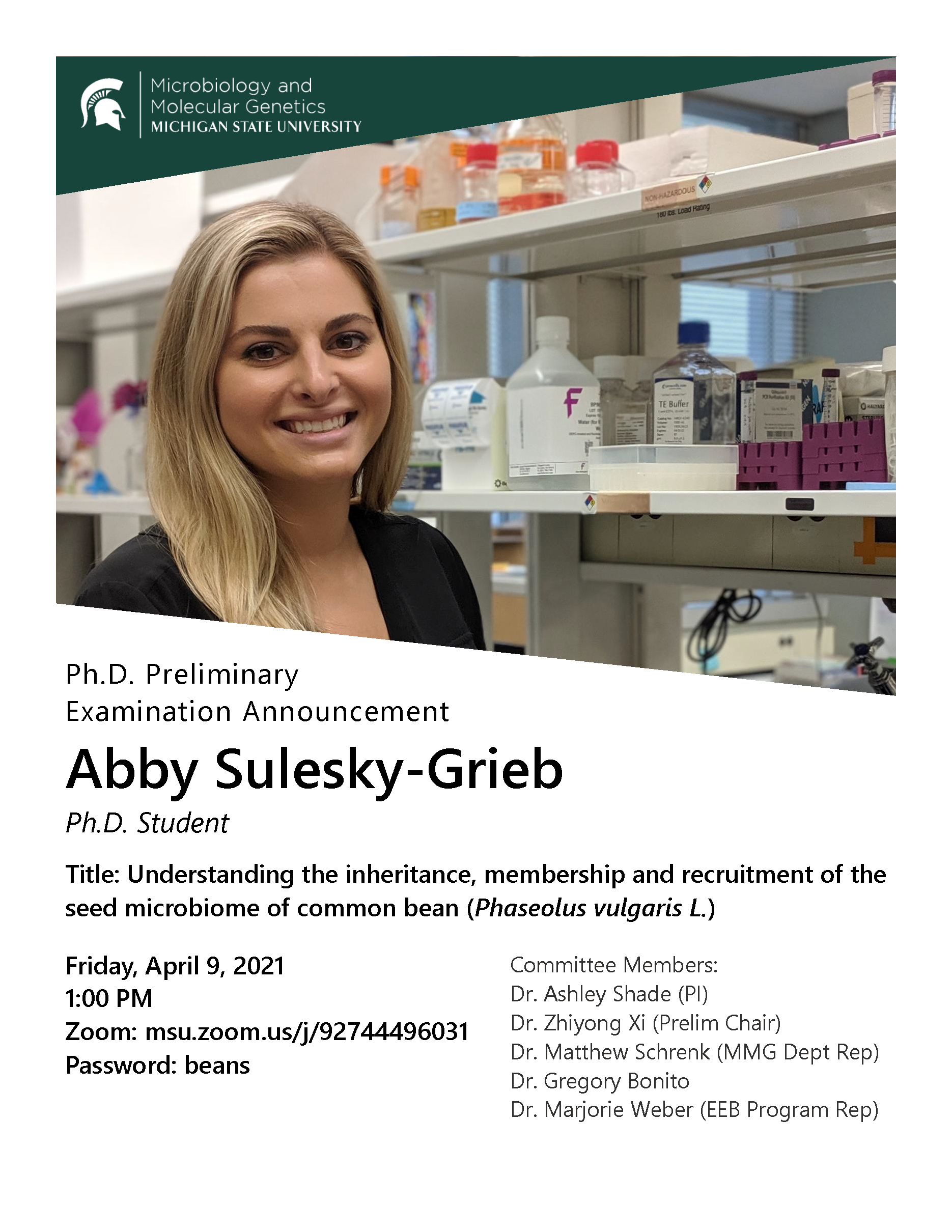 Abby Sulesky-Grieb Ph.D. Preliminary Examination Announcement